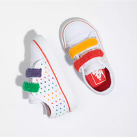 Vans Kids - Toddlers - Style 23 V Chenille Rainbow US 6-10 child