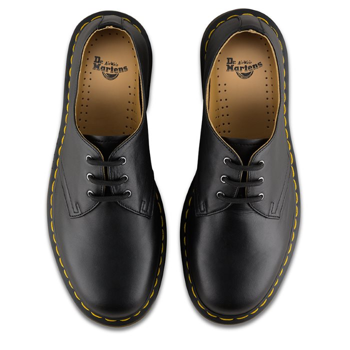 Dr Martens - 1461 Nappa DM Core Lace Up Shoe Black 3 Eye Gibson