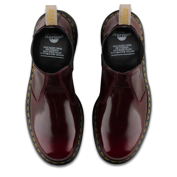 d82b281c469 Dr Martens -Vegan 2976 Chelsea Boot Cherry Red Oxford Brush