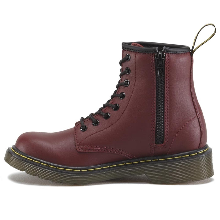 Dr Martens kids - 1460 J Cherry Red lace up boot with zip uk10-3 Delaney