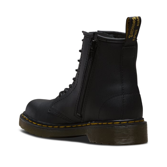 Dr Martens kids - 1460 Junior lace up boot with zip black school uk 10-3