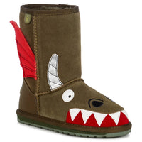 EMU - Kids - Dragon - Khaki Wool Boot K11589