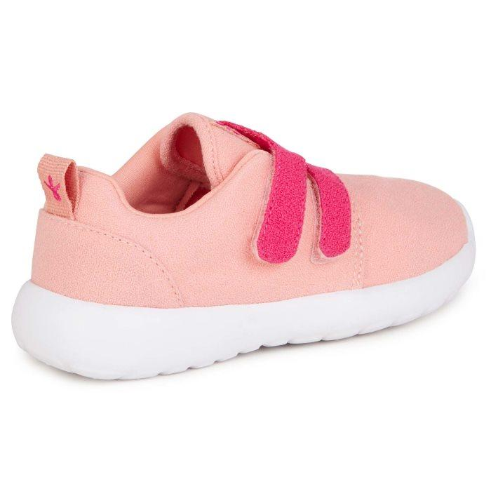EMU - Kids  Becher Velcro Trainer Dusty Pink Wool Fabric