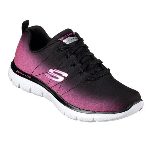 newest 229b5 eae92 Skechers Flex Appeal 2.0 Bright Ombre- black pink 12763