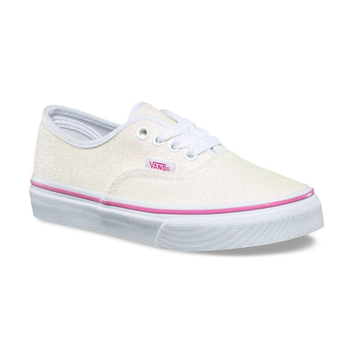 208cb489cd Vans - Authentic Girls Glitter White Yellow youths sizes 1-4 – Foot ...