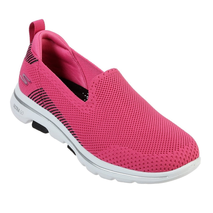 Womens Skechers - Go Walk 5 Prized Pink Slip Ons 15900