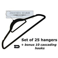 Black Velvet Non Slip Clothes/ Coat Hangers