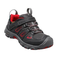 Keen Kids  us 10, 11, 12, 13 - Oakridge Low Waterproof Black Red Mid Trainer