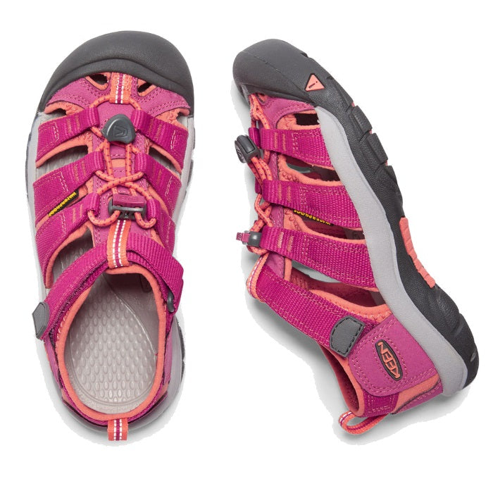 Keen Girls us 1 - 6 (big) Newport H2 Very Berry Fushion Coral