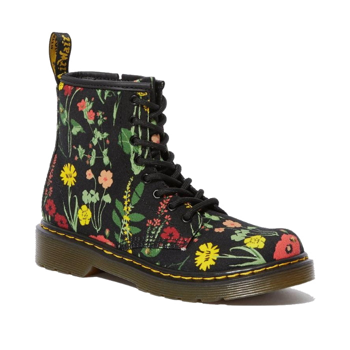 Dr Martens kids - 1460 J Wild Botanic Flowers CANVAS  boot with zip  uk10-3