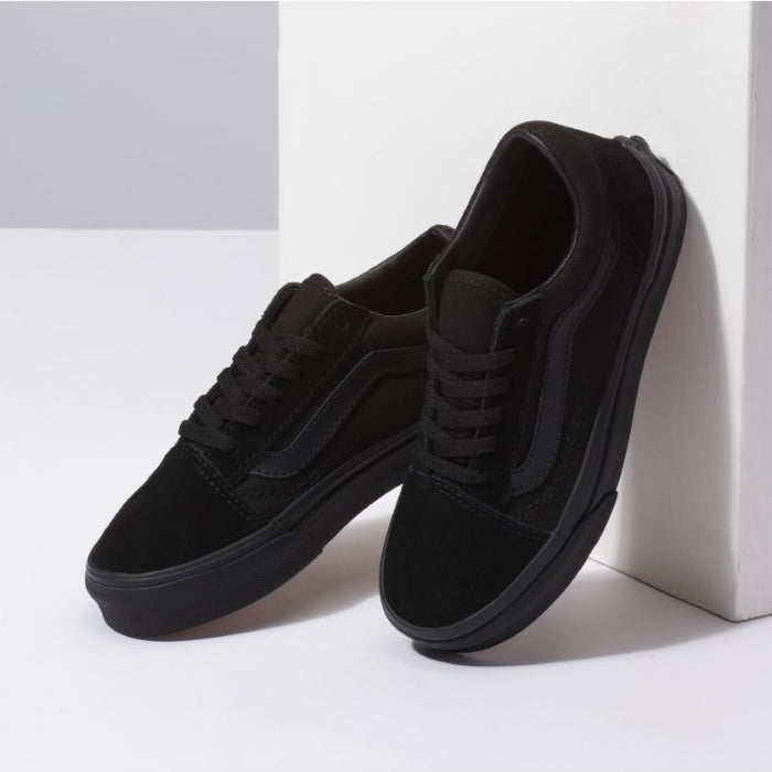 Vans - Old Skool  - Youths Mono Black Lace Up
