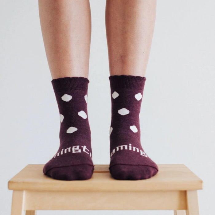 Lamington Merino Wool Crew Mulberry Womens Socks