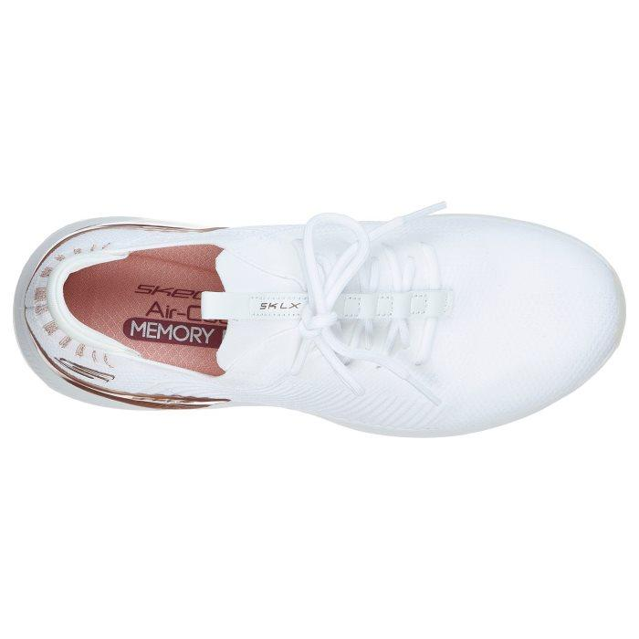 Skechers Womens  - Modena SKLX Kicks White Rose Gold