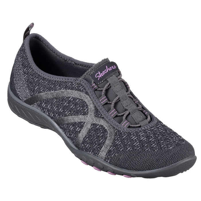 Skechers - Breathe Easy - FortuneKnit- Charcoal Grey womens 7-9.5