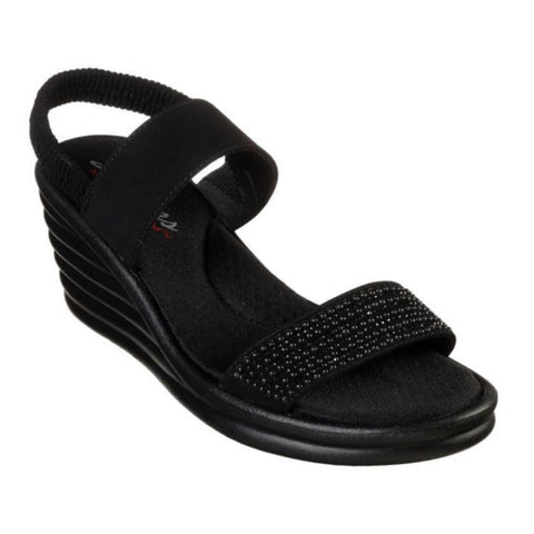 Skechers - Rumbler Wave  Glam Game Wedge Sandal Black 31779