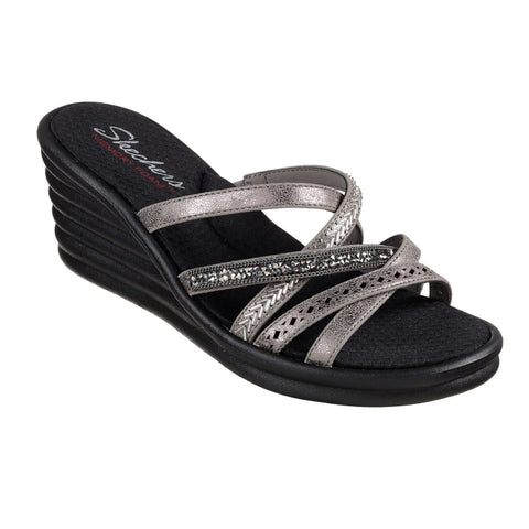 Skechers - Rumbler Wave  New Lassie Wedge Sandal Pewter