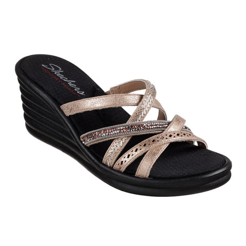 Skechers - Rumbler Wave  New Lassie Wedge Sandal Rose Gold