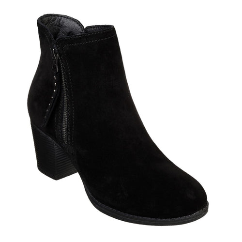 100% quality new cheap fashion style Womens Skechers - Taxi Don't Trip Black Suede Ankle Boot
