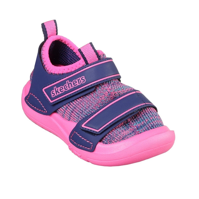 Skechers Toddlers Flex Play Triple Fit Playdate Strides Navy Pink