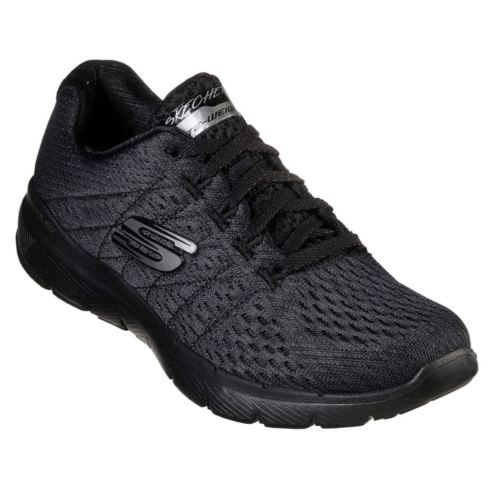 Womens Skechers - Flex Appeal 3.0 Satellites Black with Black Sole