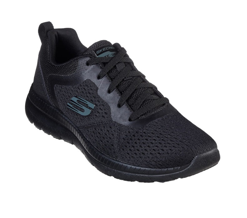 Black Skechers Lace Up Trainer Bountiful Quick Path 12607