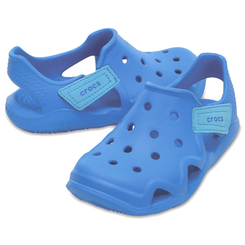 a5577c5e24ae Toddlers Swiftwater Wave K Sandal from Crocs Blue - wet or dry ...