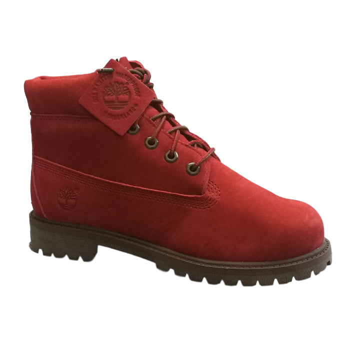 Timberland Kids Dark Red Icon Juniors Boots 6 inch Premium Waterproof Boots