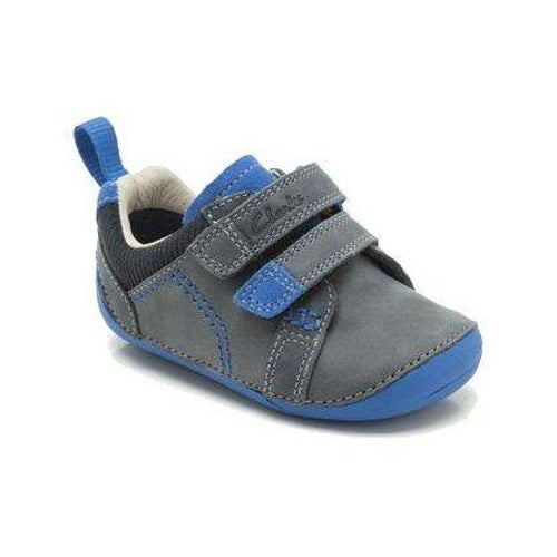 Clarks - Tiny Soft - boys first shoe Blue sizes 4.5 & 5