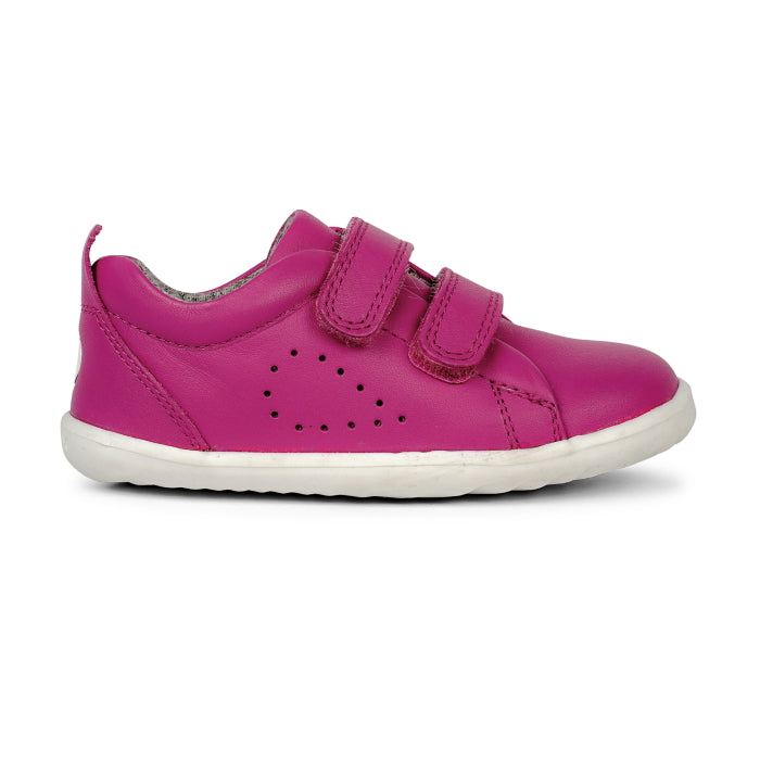 Bobux Step Up - Grass Court Toddlers Sneaker 728927 Raspberry
