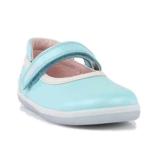 Bobux iwalk Twirl Aqua Leather Ballet Flat Mary Jane 627908