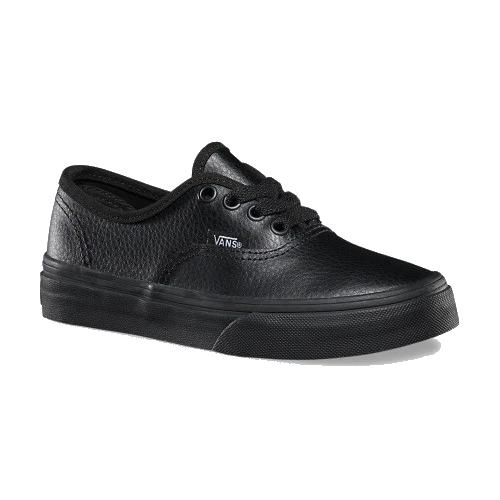 Vans - Authentic Kids Leather - All Black Youths sizes
