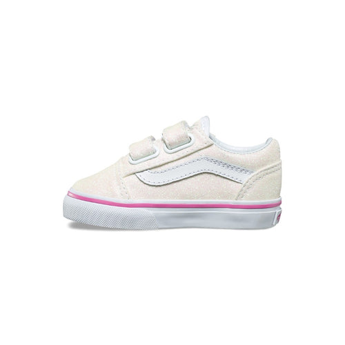 7566cde45f3 Vans Kids - Old Skool V - Toddlers - Glitter to a size 10 - Free SHIPPING