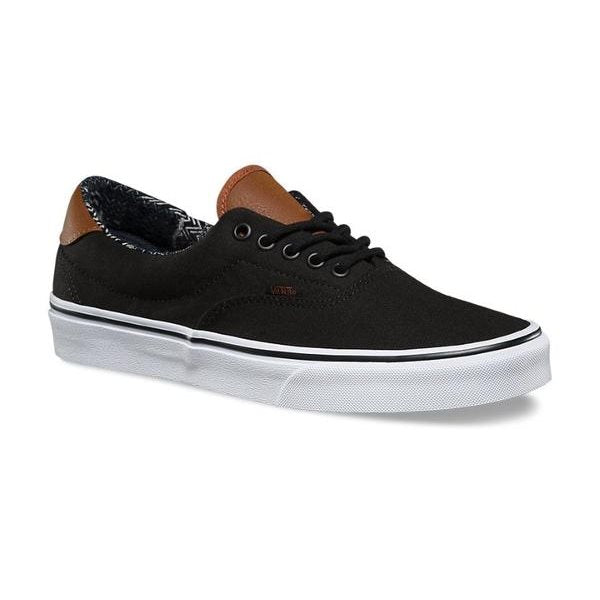 Vans Shoes Kids ERA 59 Black with Tan Lace Up