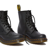 Dr Martens - 1460 Vonda Black 8 ups with Black Flowers
