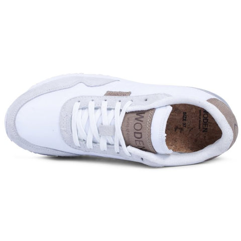 Woden Nora II Sneaker Bright White Lace Up