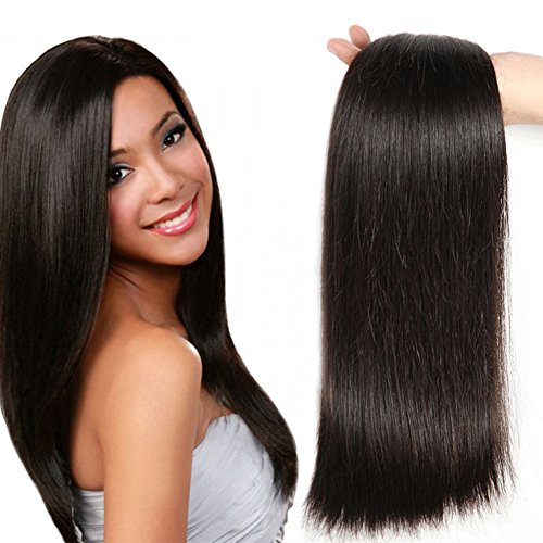Mongolian Straight Virgin Human Hair Weave Bundles Natural Color 8-28 Inches - NiceHair