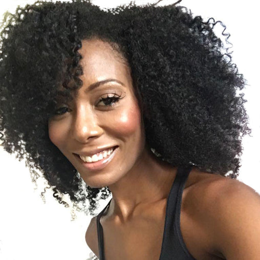 Mongolian Kinky Curly Virgin Human Hair Weave Bundles Natural Color 8-28 Inches - NiceHair
