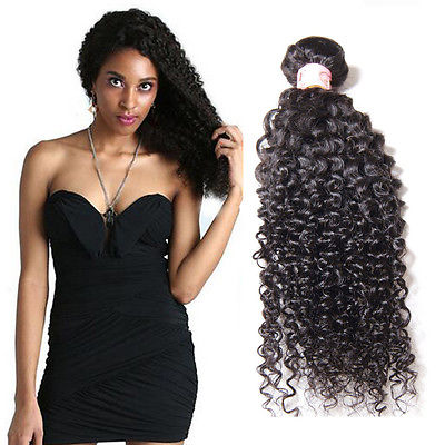Peruvian Kinky Curly Virgin Human Hair Weave Bundles Natural Color 8-28 Inches - NiceHair