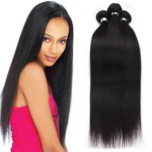 Peruvian Straight Virgin Human Hair Weave Bundles Natural Color 8-28 Inches - NiceHair