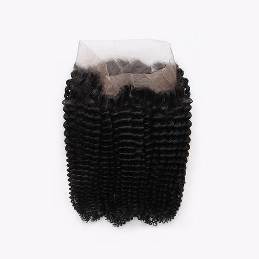 Kinky Curly Virgin Human Hair 360 Lace Frontal Closure - NiceHair