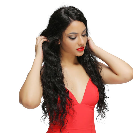Mongolian Natural Wave Virgin Human Hair Weave Bundles Natural Color 8-28 Inches - NiceHair