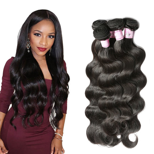 Peruvian Natural Wave Virgin Human Hair Weave Bundles Natural Color 8-28 Inches - NiceHair