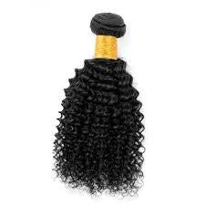 Brazilian Kinky Curly Virgin Human Hair Weave Bundles Natural Color 8-28 Inches - NiceHair