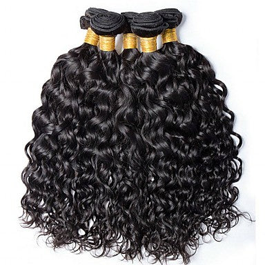 Brazilian Water Wave Virgin Human Hair Weave Bundles Natural Color 8-28 Inches - NiceHair