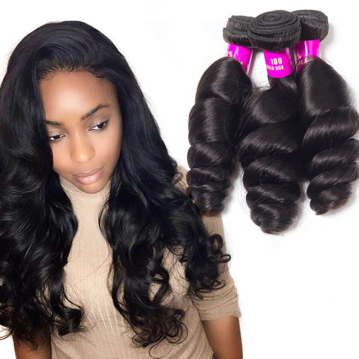 Mongolian Loose Wave Virgin Human Hair Weave Bundles Natural Color 8-28 Inches - NiceHair