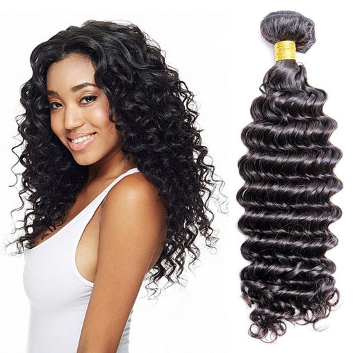 Indian Deep Wave Hair Bundles Unprocessed Human Hair Weave 8-28 Inches - NiceHair