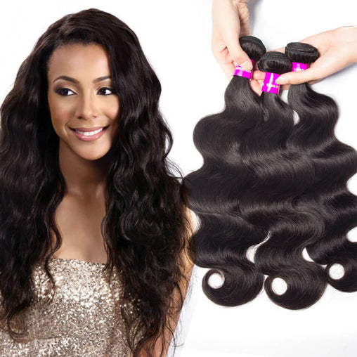 Malaysian Body Wave Virgin Human Hair Weave Bundles Natural Color 8-28 Inches - NiceHair