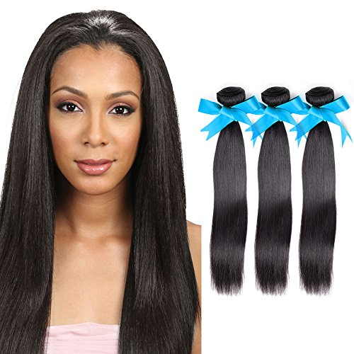 Brazilian Straight Hair Virgin Human Hair Weave Bundles Natural Color 8-28 Inches - NiceHair
