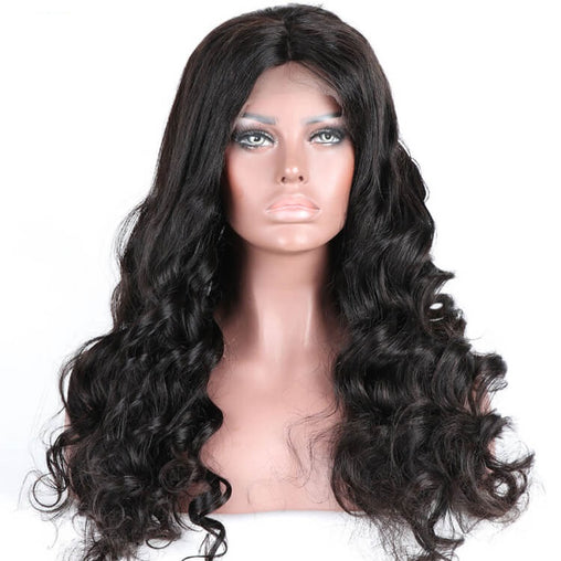 Loose Wave Virgin Human Hair Full Lace Wig 10-24 Inches - NiceHair
