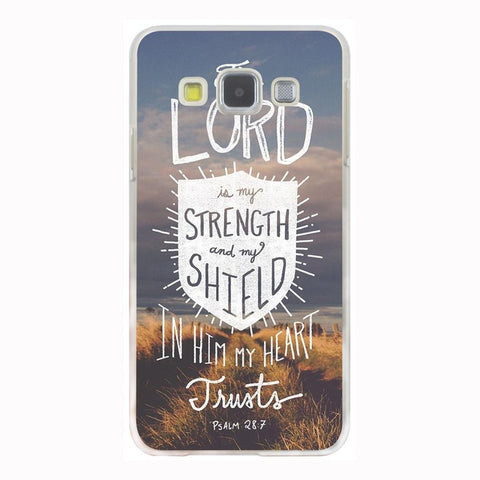 'The Lord Is My Strength and My Shield' Phone Case For Samsung Galaxy & Grand Prime Note